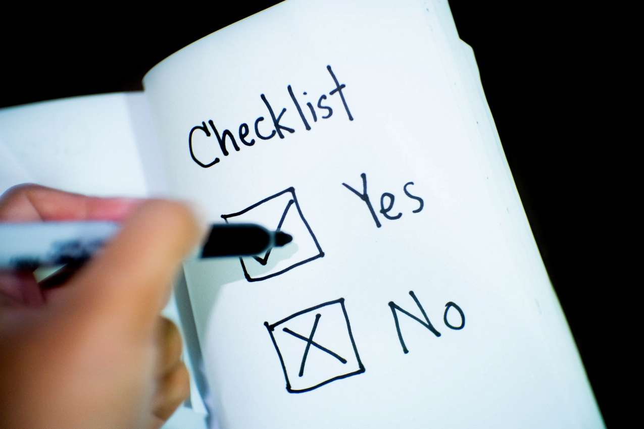 Personal prayer checklist