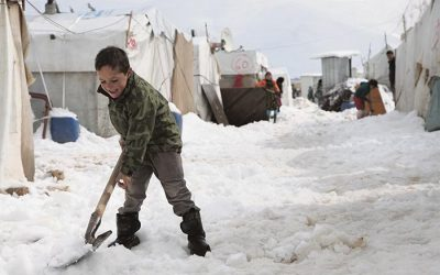 Winter among the refugees